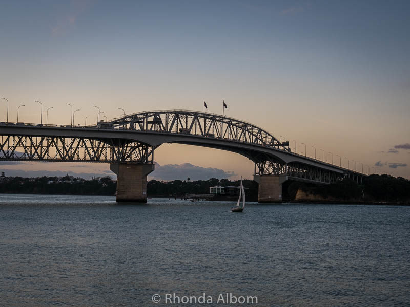 Auckland Harbour Bridge view from the boardwalk