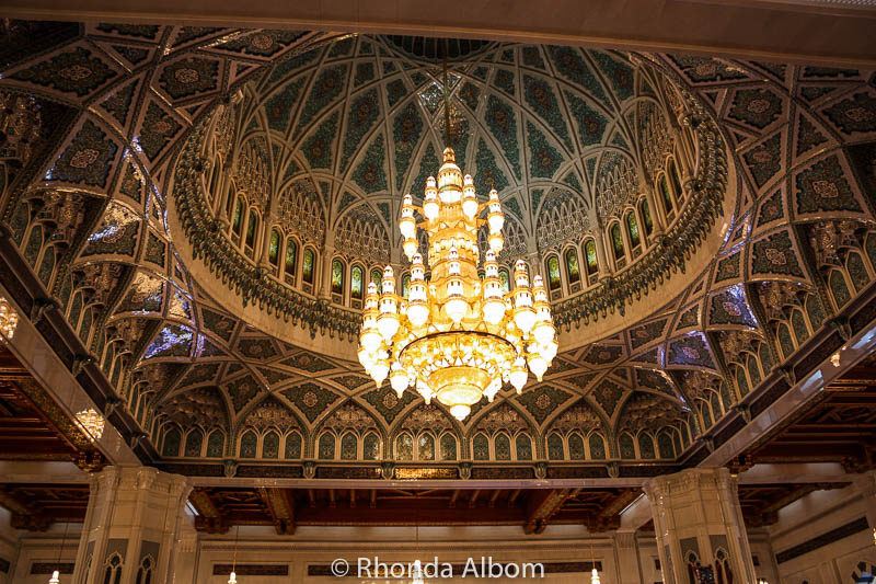 Swarovski crystal chandelier in the Grand Mosque of Oman