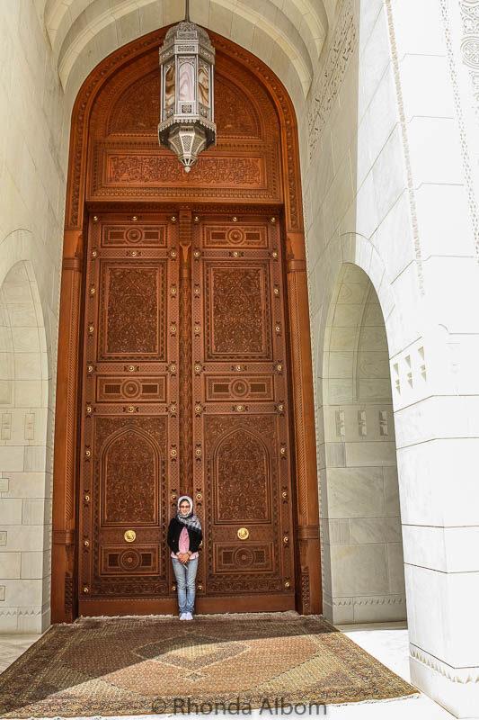 Doors in the Grand Mosque Oman