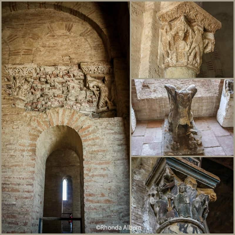 Romanesque sculpture in the portal of the Basilica St Sernin in Toulouse France