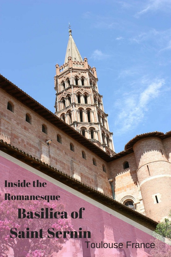 An inside look at the Basilica of St. Sernin in Toulouse, France.