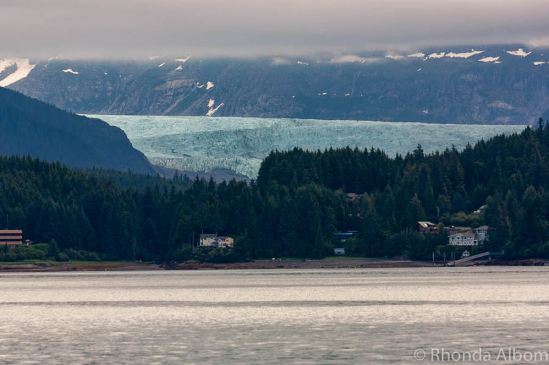 Mendenhall glacier view in Juneau Alaska