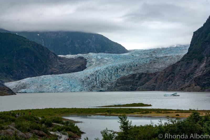 Mendanhal Glacier in Juneau one of the Alaska glacier cruise highlights.