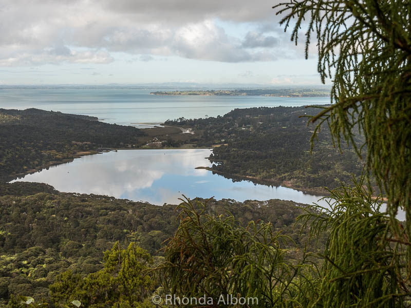 Looking out over the Waitakere Ranges and west coast beaches.