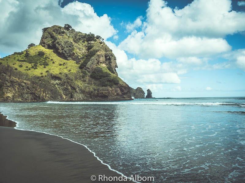 Lion Rock At Piha Beach In Auckland New Zealand
