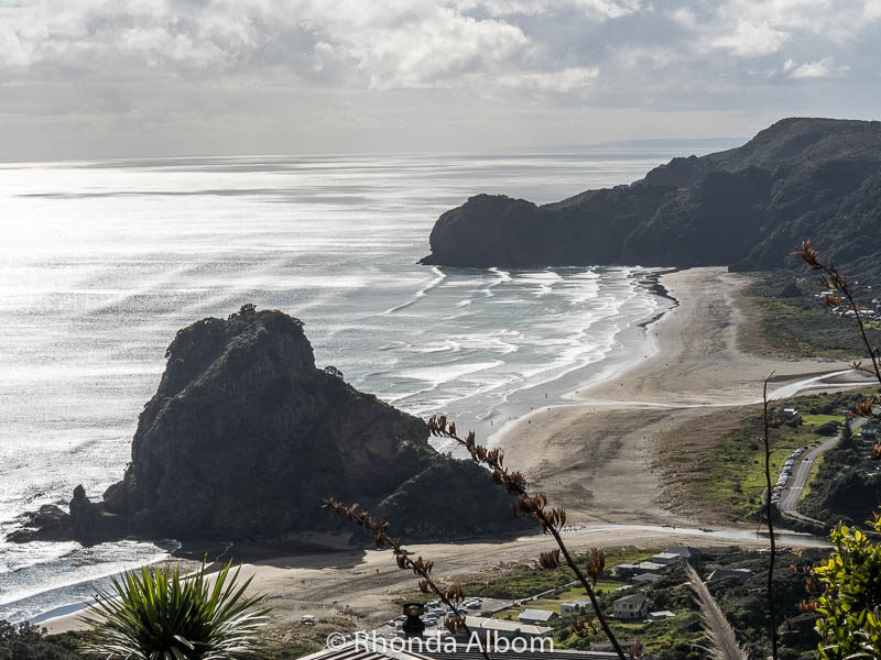 Overlooking Piha, one of the beaches in Auckland New Zealand
