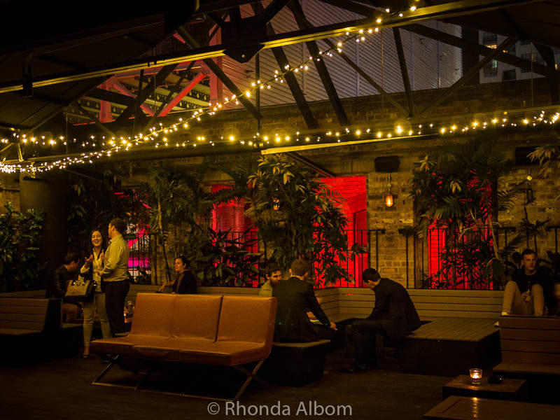Roxy Garden Bar, one of many night clubs, a big part of the nightlife in Auckland New Zealand