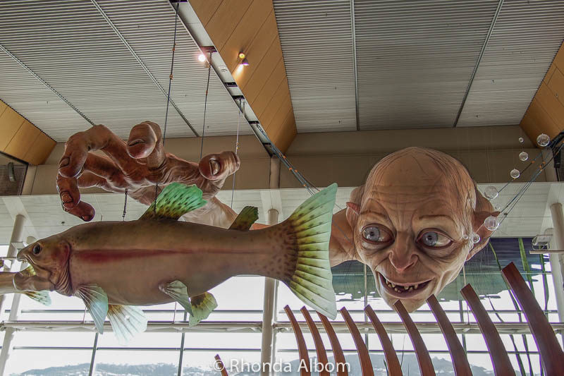 Gollum on display at the Wellington Airport in New Zealand