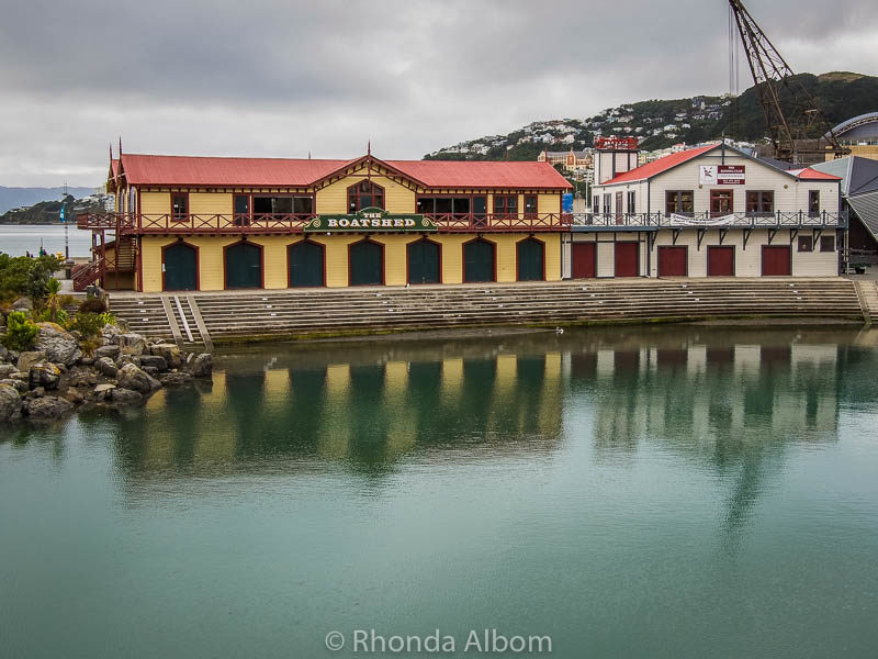Old boatshed - one of the many things to see in Wellington New Zealand