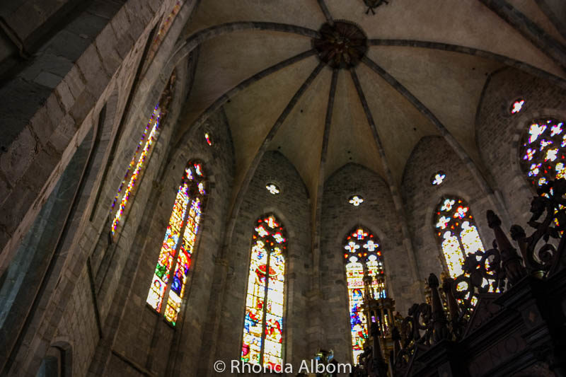 Renaissance stained glass windows in the Saint Bertrand de Comminges Cathedral in France