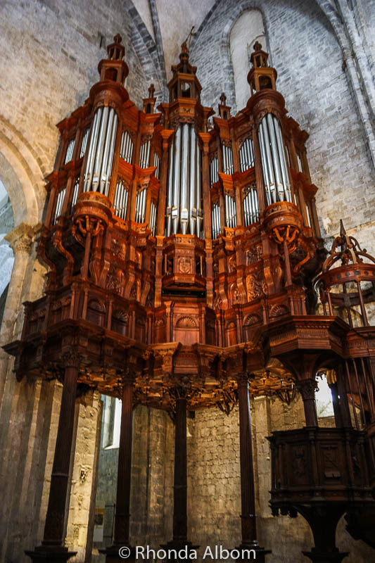 Organ at the Saint Bertrand de Comminges Cathedral in France