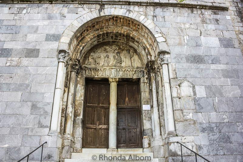 Saint Bertrand de Comminges Cathedral entrance in France