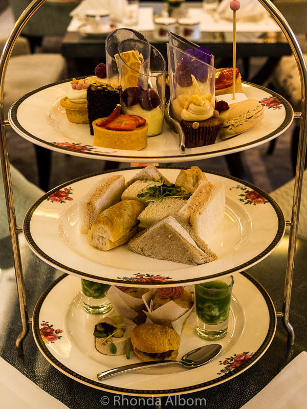 Afternoon Tea at the Langham Hotel in Auckland New Zealand
