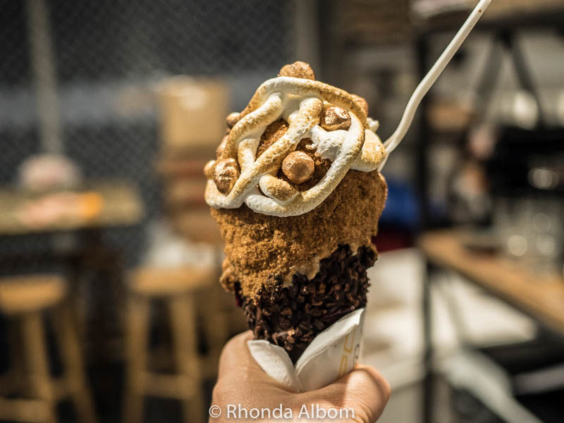Handmade ice cream treat at Giapo in Auckland New Zealand