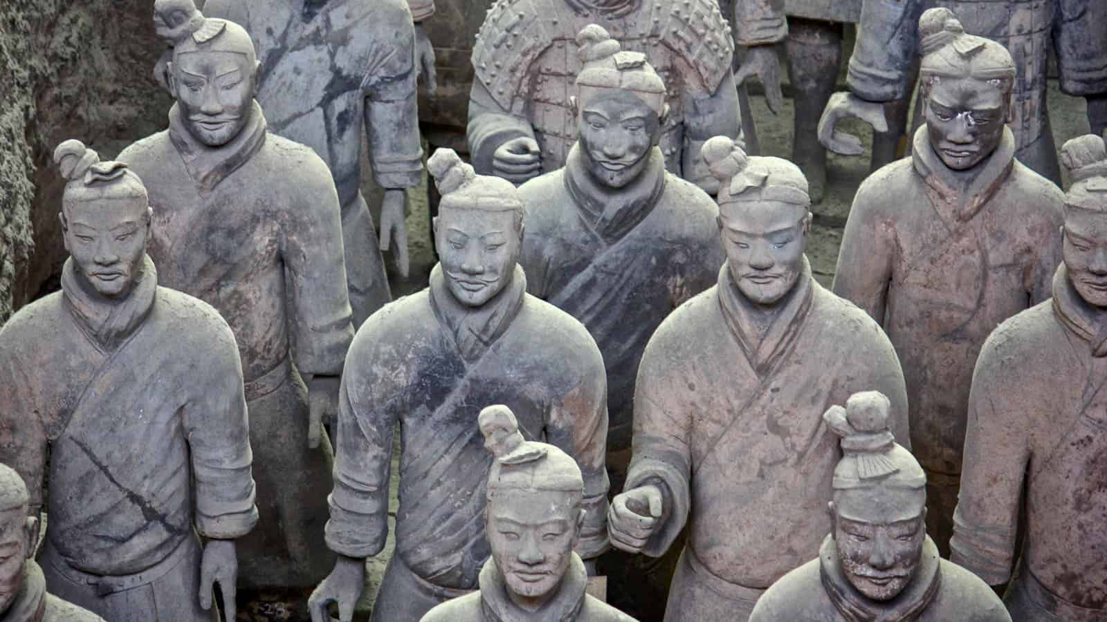 Army of the Terracotta Warriors in Xi'an China