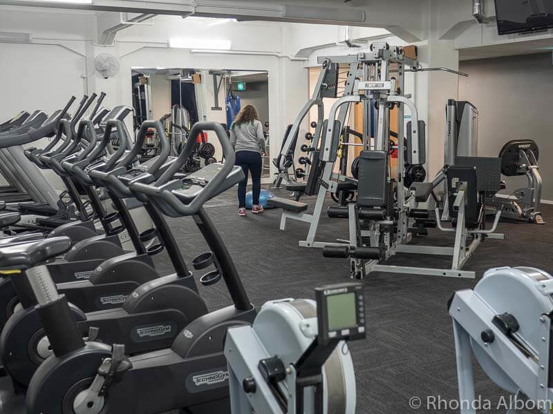 Air Fitness gym inside the Distinction Hotel Dunedin
