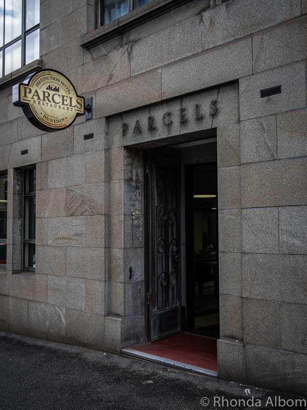 Parcels Restaurant at Distinction Hotel Dunedin New Zealand