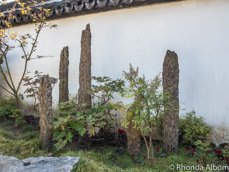 Stalagmites used as decor in the Dunedin Chinese Garden