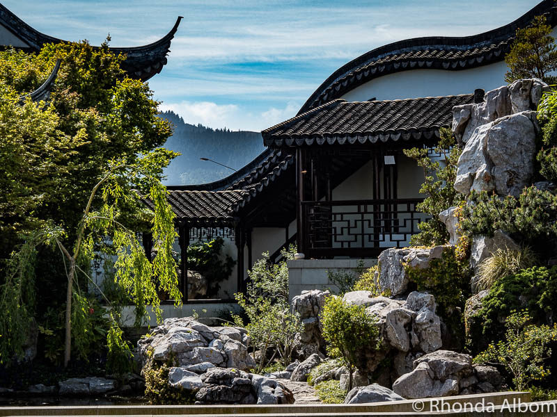 Borrowed scenery at the Dunedin Chinese Garden New Zealand