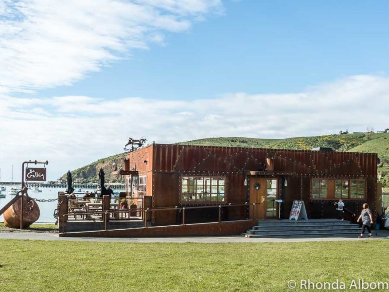 The Galley restaurant on the waterfront in Oamaru New Zealand.