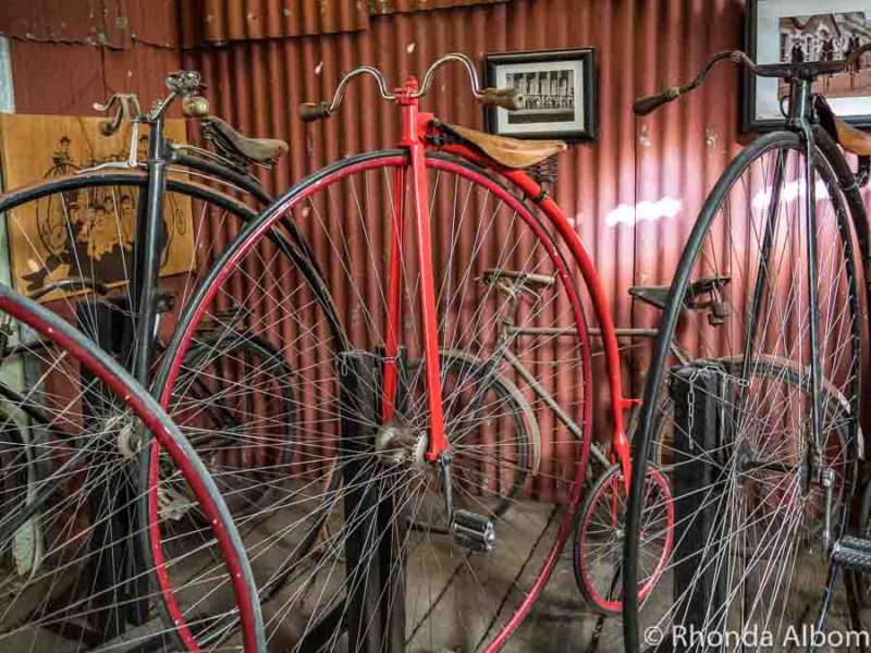 Penny Farthings in Oamaru's Victorian Prescient in New Zealand