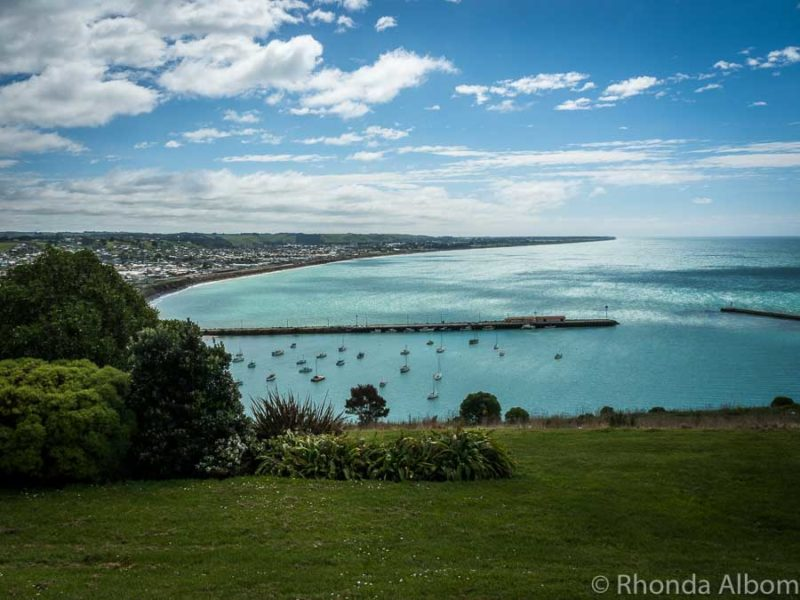 View from the Lookout in Oamaru New Zealand on the South Island.