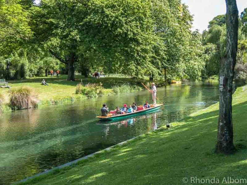 Punting on the Avon is an iconic Christchurch activity.
