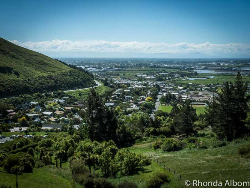 View from Gondola. Christchurch New Zealand