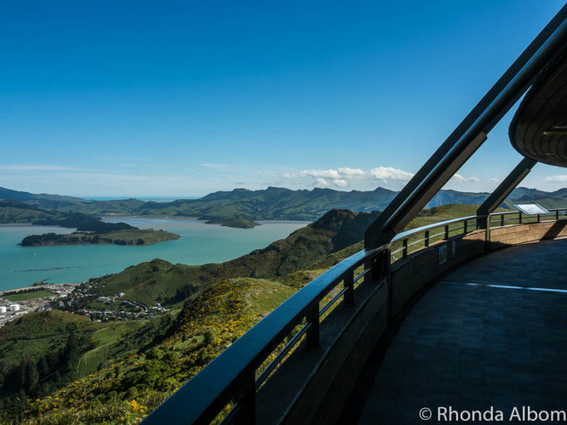 On a deck of the Gondola Station on top of Mount Cavendish in Christchurch New Zealand
