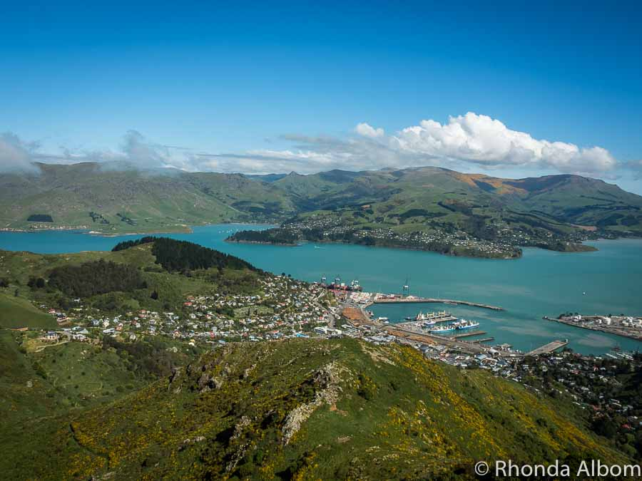 A View from the top of the Christchurch gondola on Mount Cavendish in New Zealand