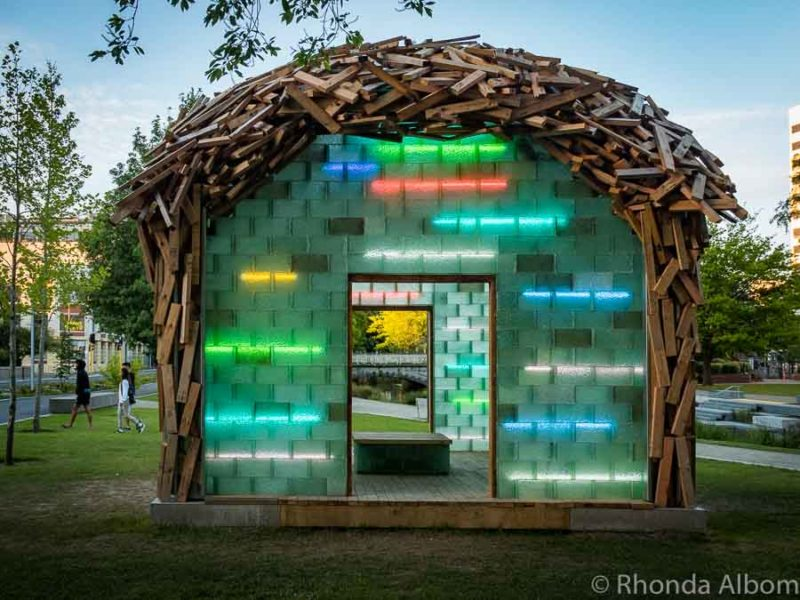 The Glass Pavilion 2017 by Auckland artist Gregor Kregar in Christchurch New Zealand