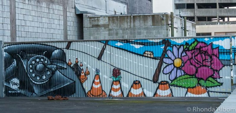 Christchurch street art on the South Island of New Zealand