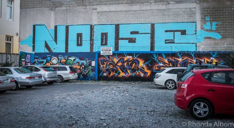 Graffiti street art in Christchurch New Zealand
