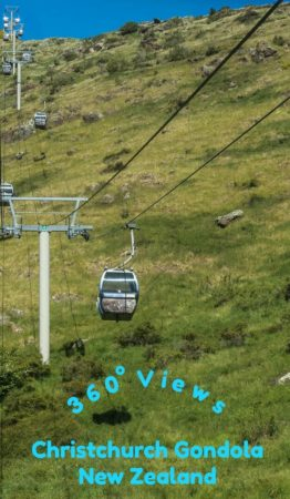 Christchurch gondola on Mount Cavendish in New Zealand. Read the article to see photos of the 360 degree panoramic views.
