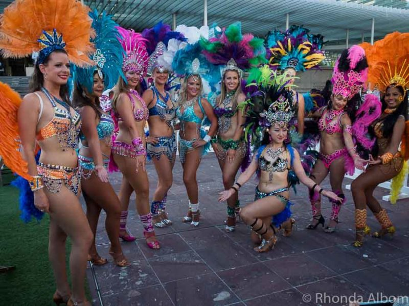 Samba dancers at the Latin Festival Auckland New Zealand