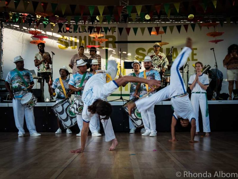 Capoeira at the Auckland Latin Festival in New Zealand