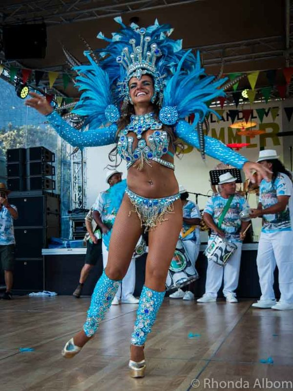Samba dancer at the Latin Festival Auckland New Zealand