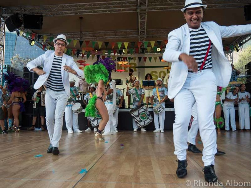 Male samba dancers at the Latin Festival Auckland New Zealand