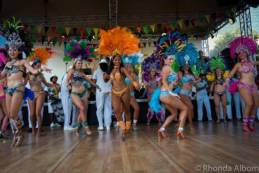 Samba dance at the Latin Festival Auckland New Zealand
