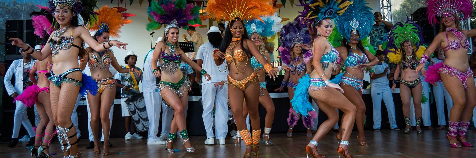 Samba dancers at Auckland Latin Festival
