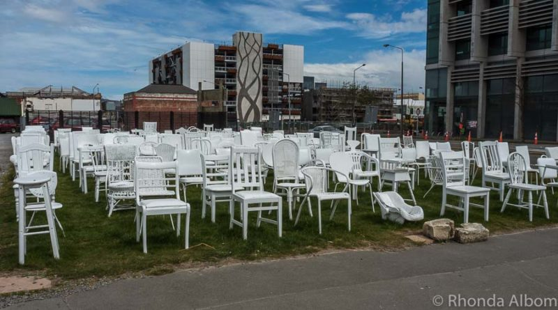 185 Empty Chairs memorial in Christchurch New Zealand