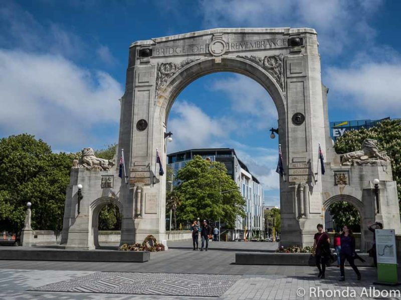 Bridge of Remembrance in Christchurch New Zealand