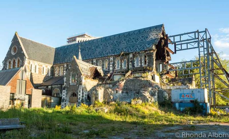 Earthquake damaged cathedral in Christchurch
