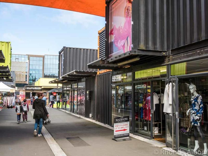 Container mall (Re:START) in Christchurch New Zealand