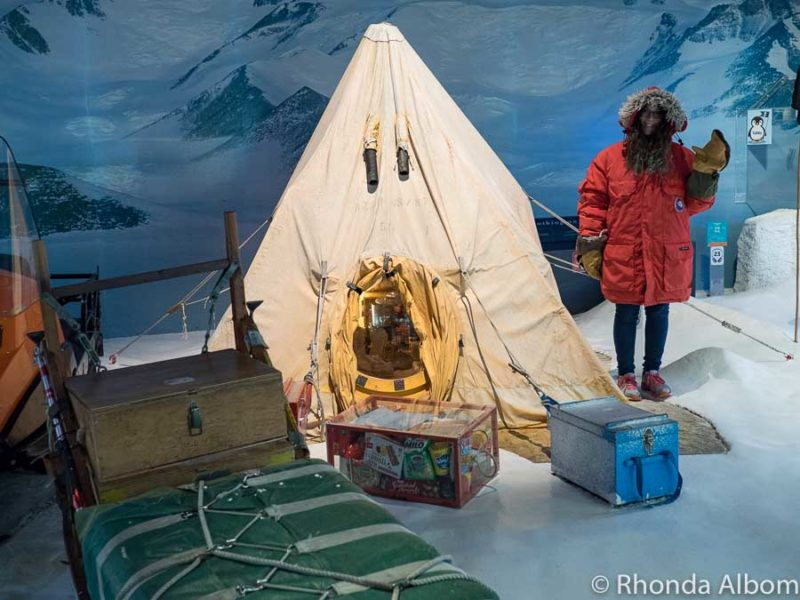 Scotts Base exhibit at the International Antarctic Centre in Christchurch New Zealand