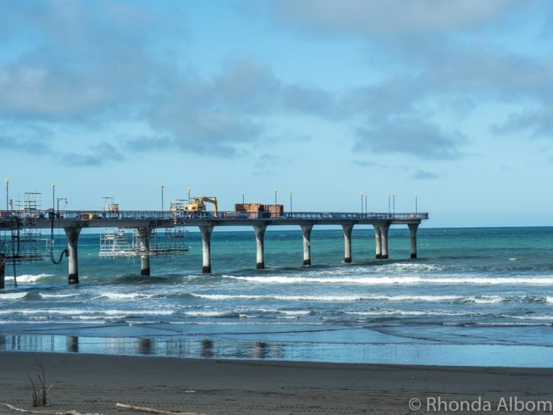 Visiting New Brighton Pier and beach is one of many things to do in Christchurch New Zealand
