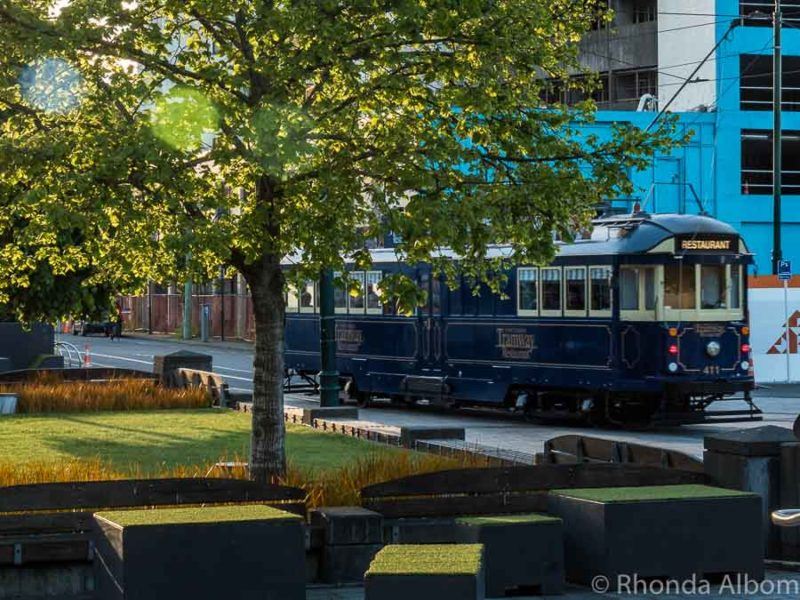 Tramway Restaurant Dinner Tour travels the streets of Christchurch New Zealand