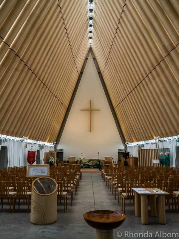 The Christchurch Tranistional Cathedral (The Cardboard Cathedral) in Christchurch New Zealand
