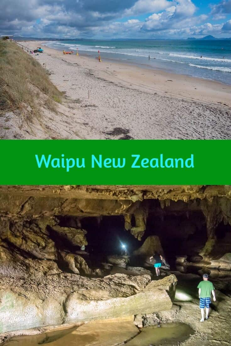 Explore the stalagmites, stalactites, and glow worms in Waipu Caves, then relax at Waipu Cove in Northland New Zealand. #travel #newzealand #northland #whangarei #caves #stalactites #glowworms #beach #ocean #waipu