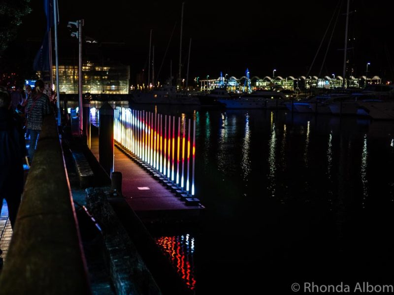 A close up look at Light Field a Light Festival in Auckland New Zealand